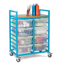 Art Trolley With 8 Deep Trays & Lids