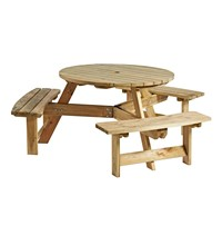 Round 6 seater picnic table
