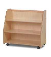 Mobile Storage Trolley with Display and Mirror Back