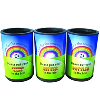 Open Top Universal With Rainbow Graphics - 90 Litre